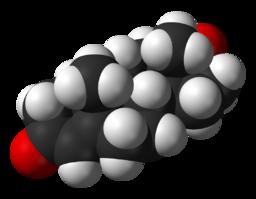 Testostérone molécule
