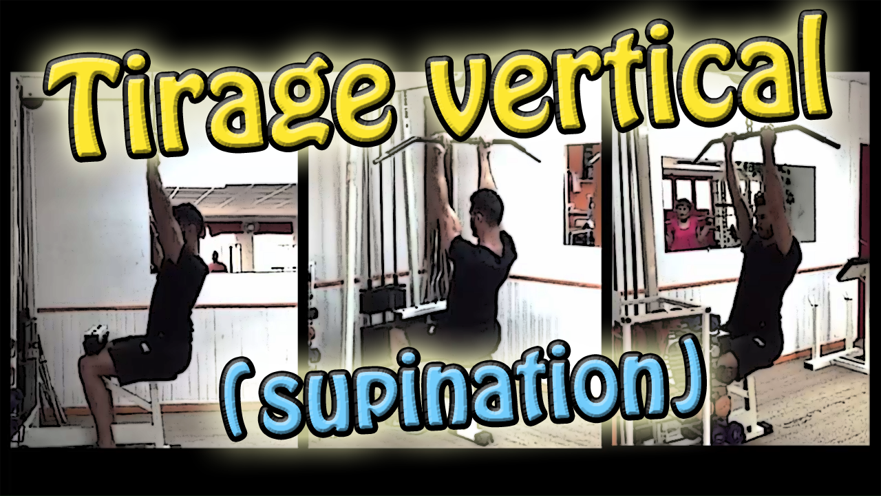 Tirage vertical en supination : exercice de musculation