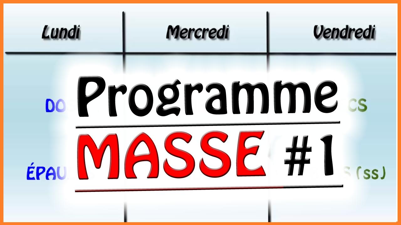 Programme prise de MASSE #1