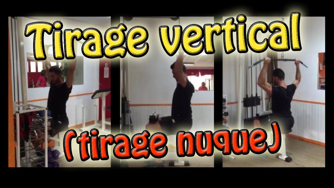 Le tirage nuque, exercice de musculation