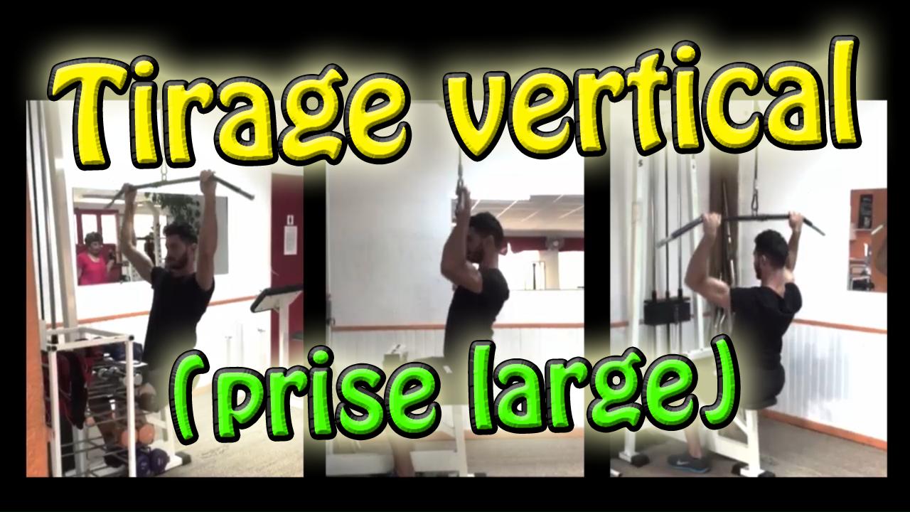 Le tirage vertical prise large – Exercice de musculation